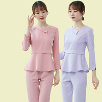 New Arrival Medical Women's Scrub Tops and Pant Sets Beauty Salon Workwear Clothes Hospital Dental Clinic Gowns Nurse Uniform