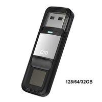 DM PD061 USB แฟลชไดรฟ์ 128 GB ลายนิ้วมือ