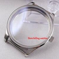 44mm parnis assistir estéril CASO ajuste eta 6498 6497 mão winding movimento de comer|watch movement|watch movement eta|movement eta -