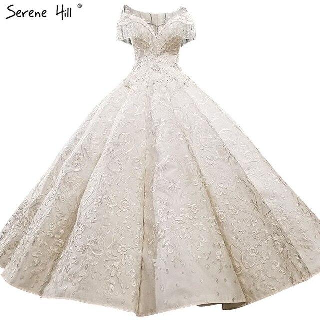 Luxury Crystal Tassel Fashion Sexy Wedding Dress 2018 Vintage High-end  Custom Sleeveless Bridal Gown Real Photo 1006ba7fd7ff