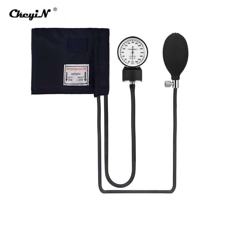Manual Blood Pressure Measure Device Kit Cuff Stethoscope Home Use Doctor Systolic Diastolic Sphygmomanometer Health Monitor image