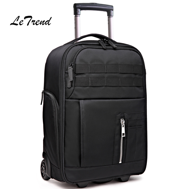 Letrend Multi-function Travel Bag Cabin Suitcase Wheels Photography Backpack Capacity Rolling Luggage SLR camera bag Trolley universal uheels trolley travel suitcase double shoulder backpack bag with rolling multilayer school bag commercial luggage