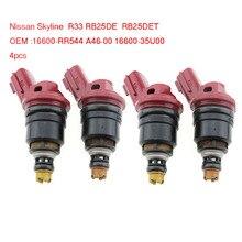цена на 4pcsx 740cc 16600-RR544 Fuel injector Nozzle Fits For Nissan Silvia S13 S14 S15 SR20DE SR20DET 16600RR544 (SF-60-740CC)