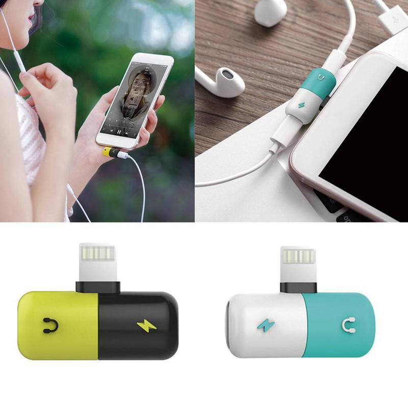 Headphone-Adapter Pill-Converter Apple-Interface Charging-Listening Double 2-In-1