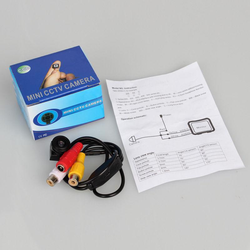 Free Shipping!HD 600TVL 720*480 30fps FPV Security Mini CCTV Camera Audio Wide Angle 140 degree For Drone FPV