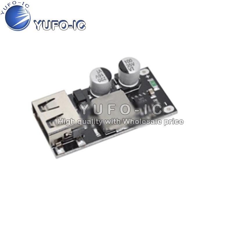 Drehen step-down dc modul 12 v24v QC 3,0 schnell ladung einer USB telefon pad unterstützung HUA. WEIFCP