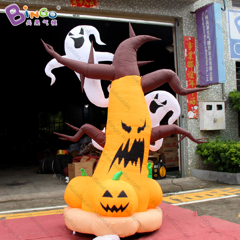 Customized 10 feet tall inflatable pumpkin and ghost Halloween 3 meters pumpkin ghost inflatables for decoration toys