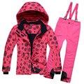 Russian Winter Girls Ski Suit Waterproof Outdoor Girls Ski Jacket+Bib Pants 2pcs Set Children Clothing