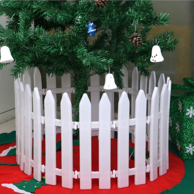 1pcs christmas layout tree decorations plastic mini fence christmas decorations for home natal navidad 2017 natale - Christmas Fence Decorations