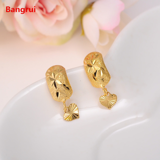 Bangrui Africa Earrings for Women / Girl, Gold Color Dubai Earrings Arab Middle Eastern Jewelry Mom Gifts Кольцо