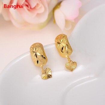 Bangrui Africa Earrings for Women / Girl, Gold Color Dubai Earrings Arab Middle Eastern Jewelry Mom Gifts Переносные часы