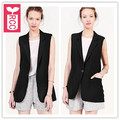 RCC Boyfrined style 2016 OL sleeveless slim single button coat womens Formal Small suit jacket,ladys fashion vest Summer
