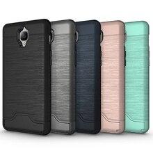 Новейшие Высокое Качество Телефона Чехол OnePlus 3 Матовый Текстура Отделимые ТПУ + PC Комбинация Чехол с Картой Слот и Держатель