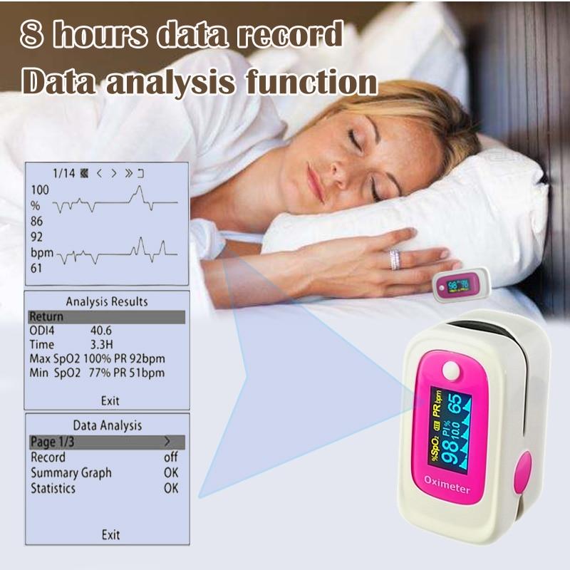 цена  Finger Pulse Oximeter 4 Parameter SPO2 PR PI ODI4 Oximetro De Dedo 8 Hour Sleep Monitoring Pulsioximetro  онлайн в 2017 году