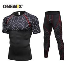 Training-Suit ONEMIX Sportwear Sports-Suits Comprehensive Fitness Mens New Short-Sleeve