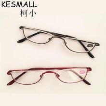 f1569bf0eb7665 Half Velg Leesbril Vrouwen Mannen Brillen Legering Frame Licht Reader  Glazen Oculos de Grau Oude Mensen Leesbril YJ810