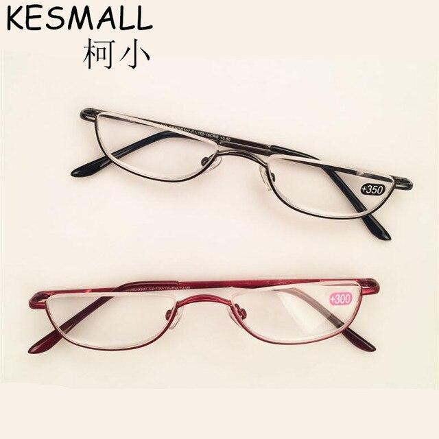 f73bdb23a6b84 Metade Aro óculos de Leitura Óculos de Mulheres Homens Óculos Frame Da Liga  Luz YJ810 Idosos