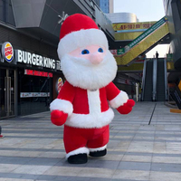 ohlees Santa xmas Mascot Costumes cartoon character Halloween party Props Costumes For Adult 3M high