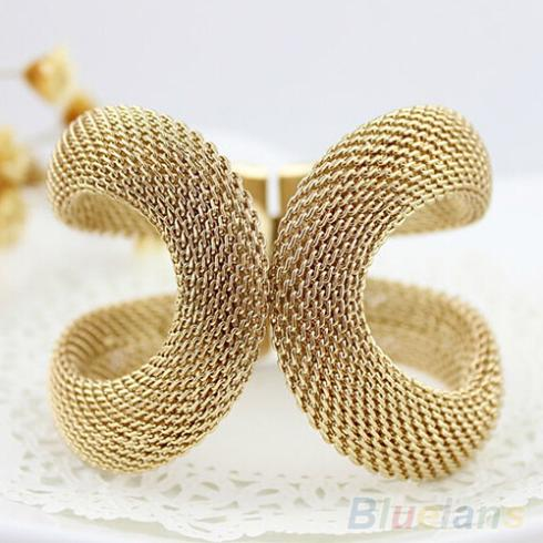 Bangles Costume-Bracelets Jewelry Women Fashion Elegent-Alloy New 1O12 6OR4 Wide-Spring