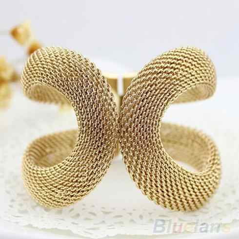 New Women Fashion Elegent Alloy Wide Spring Cuff Bracelet Costume Bracelets & Bangles Jewelry  1O12 6OR4
