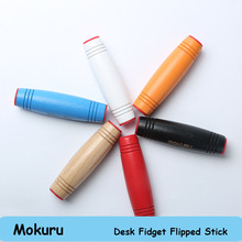 10pcs Reaction anti stress Toys MOKURU Flip the stick Hand Tumbling Decompression Concentrate Toy Kururin Funny