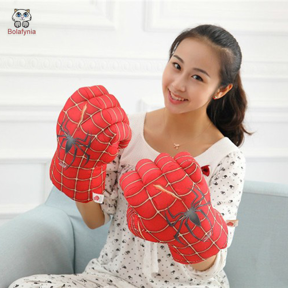 BOLAFYNIA Creative plush toys a Spiderman glove boxing gloves children adult Hulk birthday gift image
