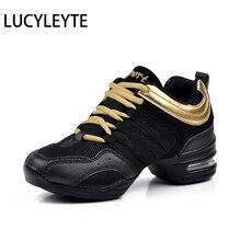 Hot Sport Feature Soft Buitenzool Breath Dans Schoenen Lucyleyte Sneakers Voor Vrouw Praktijk Schoenen Modern Dance Jazz Schoenen Sneakers