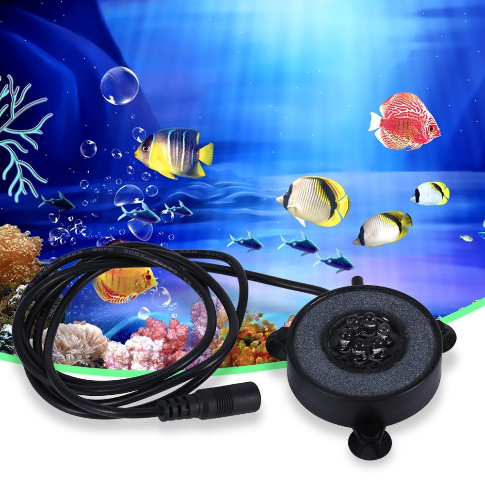 Colorful Subacquea Ha Condotto La Luce Rotonda Serbatoio di Pesce Lampada 6 Led Bolle D'aria Acquario Sommergibile Nuoto Luce Piscina