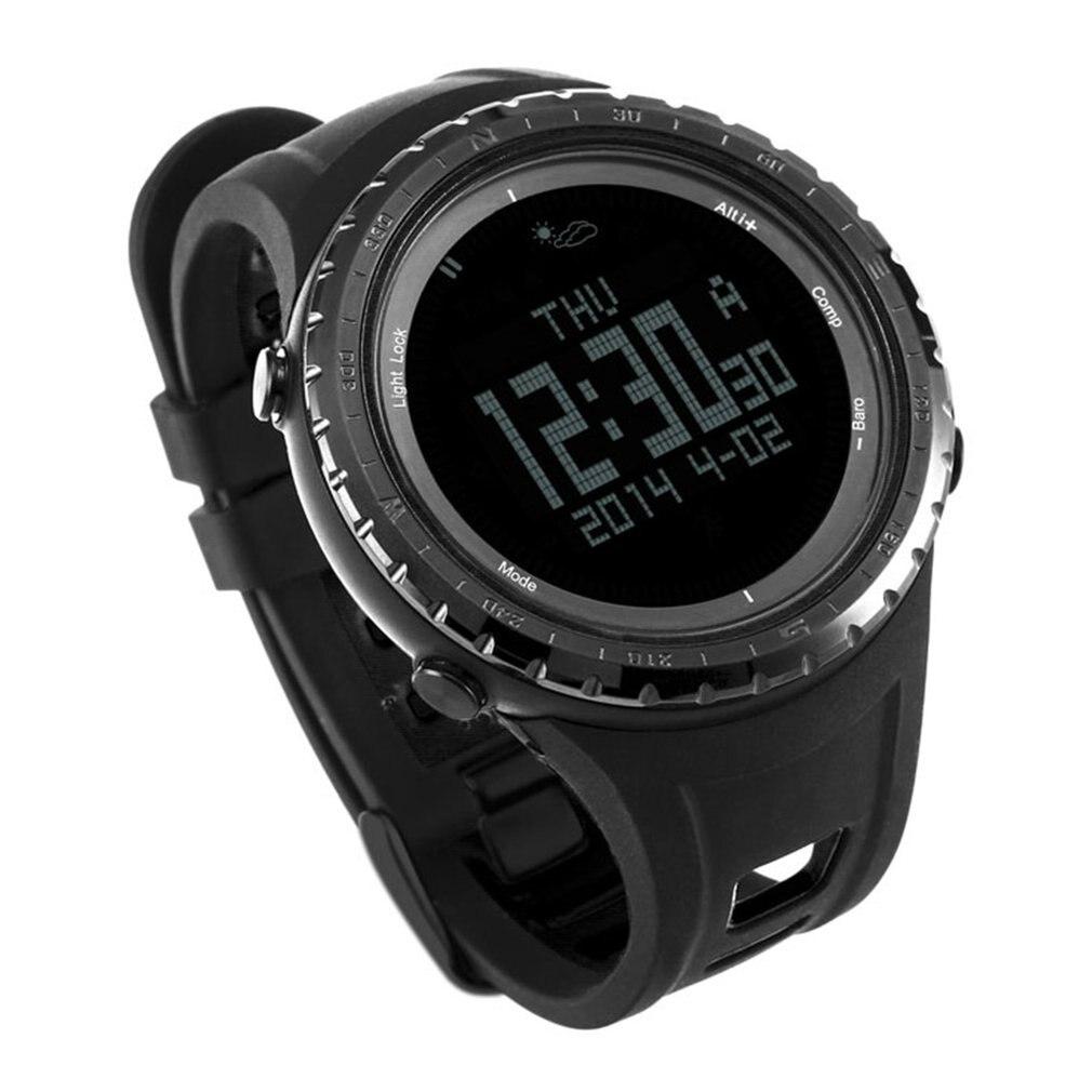 d7f562f116e0 Reloj deportivo para hombre Digital impermeable altímetro brújula relojes  pesca barómetro reloj naranja reloj de pulsera