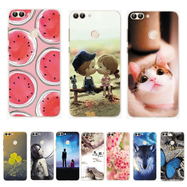 designer fashion dfa5e ee758 US $2.7 35% OFF|3D Pattern Case For Huawei P Smart Case Cover Silicone  Coque For Huawei P Smart Cover Soft TPU Bumper for PSmart Phone Cover  Bag-in ...