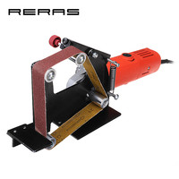 Electric Iron 100 Angle Grinder Belt Sander Attachment Metal Wood Sanding Grinding Polishing Machine Belt Adapter Powel Tools