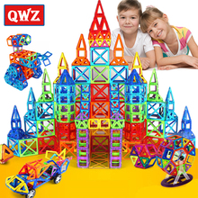 QWZ Mini Magnetic Designer Construction Set Model & Building Toy Blocks Educational Baby Toys For Kids Christmas Gifts