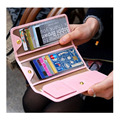 2016 Famous Brand Women Candy Color TOP Leather Card Holder Lady Girl's High Capacity Bank Credit Card Handbag Free Shipping