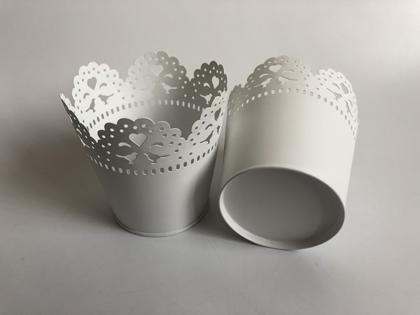 Image 2 - White Metal Vase Small Vase Wedding Decorative Pots Pure White Wedding Centerpieces SF 0517-in Flower Pots & Planters from Home & Garden