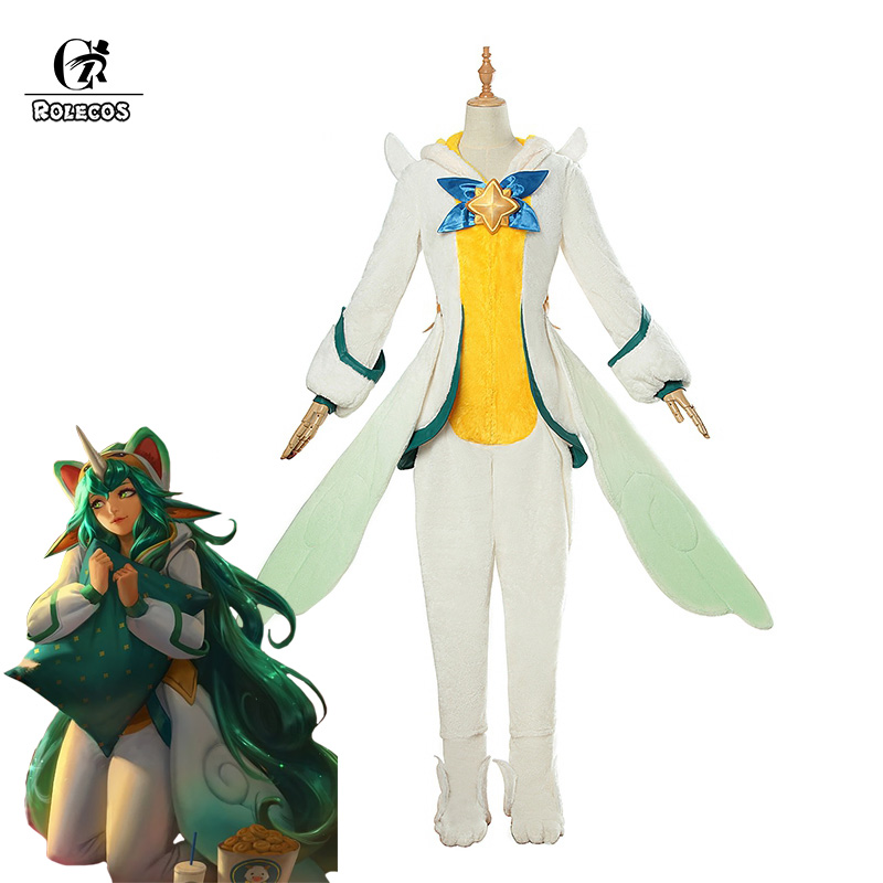 Costume Props Costumes & Accessories Game Lol Snowday Winter Wonder Soraka Cosplay Wig The Starchild Soraka Wig Halloween Carnival Wigs For Fast Shipping