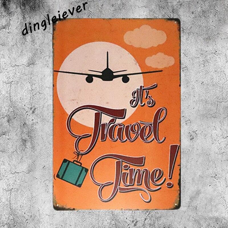 Happy Travel время металлический знак винтаж стены стикеры для детей номеров кофе знаки для стены