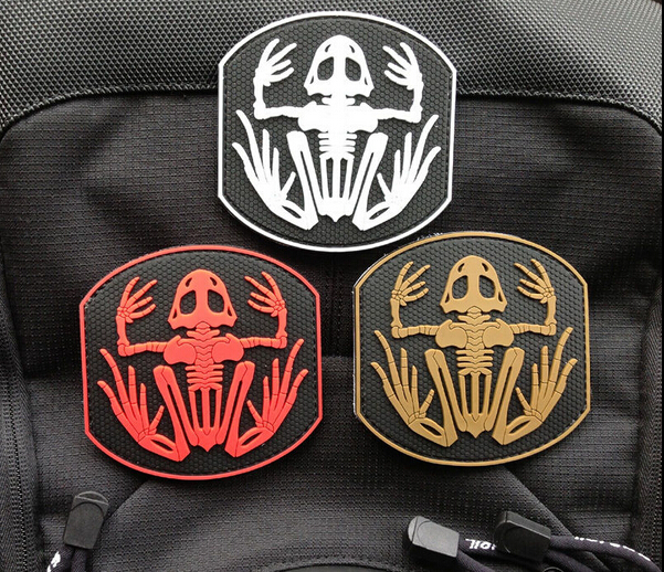 US Navy Seals Bone Frog Skeleton Skull DEVGRU Frogman Morale PVC 3D Patch  Morale Badge Patch For Caps or Clothing Adhesive Badge-in Patches from Home  ... d1c080f5924