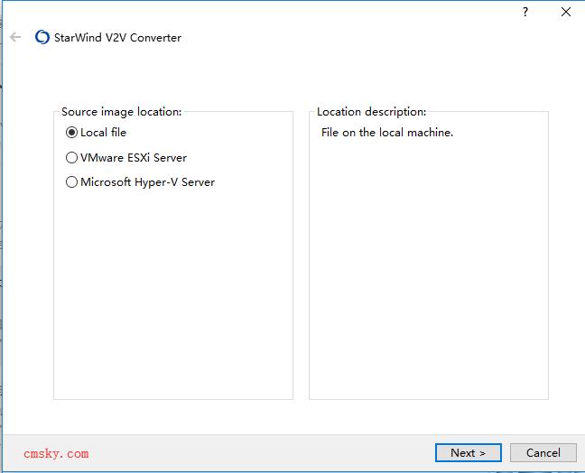 虚拟机镜像转换工具 StarWind V2V Image Converter