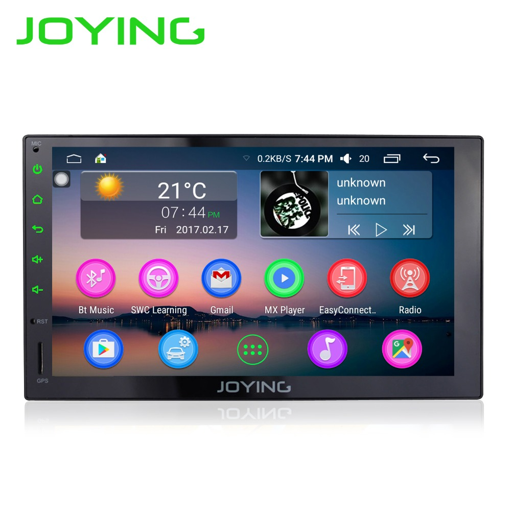 7 «радуясь 2 DIN мультимедийный плеер универсальный автомобильный Радио стерео Android 6.0 1024*600 HD Full Сенсорный экран GPS навигация головное устройст…