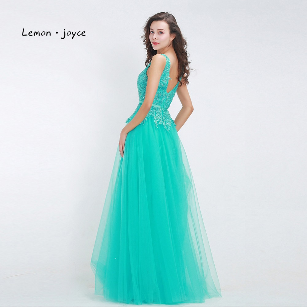 Elegant bridesmaid dresses 2018 v neck backless lace tulle floor elegant bridesmaid dresses 2018 v neck backless lace tulle floor length maxi long green prom party gown plus size in bridesmaid dresses from weddings ombrellifo Images