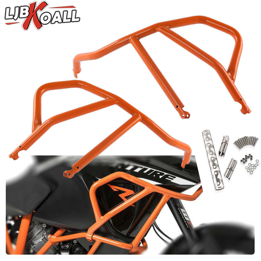 Orange Motorcycle Engine Bumper Upper Guard Crash Bars Protector Steel For KTM 1050 1190 Adventure R