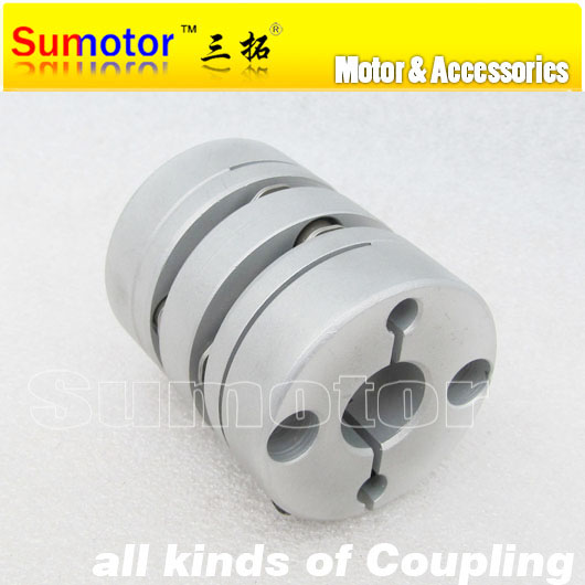 CNC parts OD40mm L48mm Bore 8mm 10mm 12mm 12.7mm 14mm 15mm 16mm 18mm servo stepper motor flexible double diaphragm shaft Coupler  new flexible aluminum alloys double diaphragm coupling for servo and stepper motor couplings d 44 l 50 d1 and d2 are 8 to 20 mm