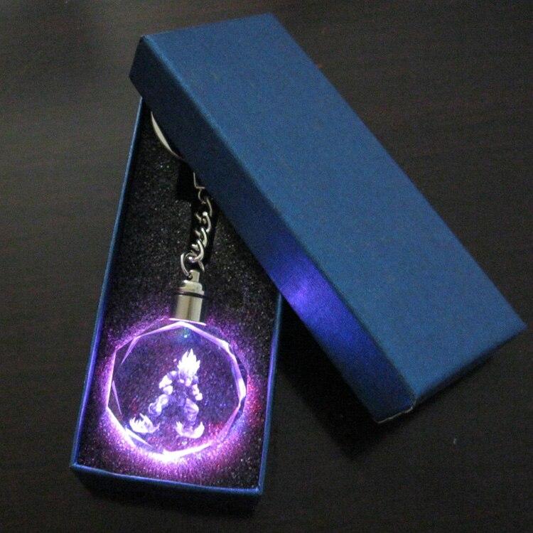 Crystal Dragon Ball Dragonball Z Son Saiyajin Goku Key Chain LED light Pendant