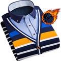 Случайные Люди Рубашки Новых людей Прибытия толстые теплые Рубашки Зима Руно Сращены Платье Рубашки С Длинным рукавом camisa masculina