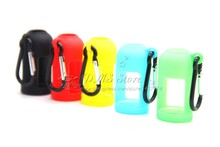 E-XY 10Pcs Silicone Skin With Mountaineering buckle For E Liquid 30ML Bottles Soft Pouch Box Protective Colorful Display Case