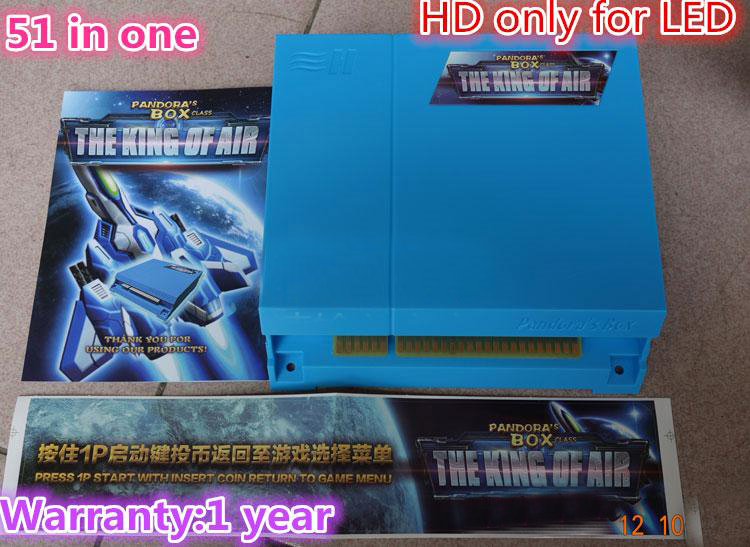 New Arrival 51 in 1 Pandora's box 3 -The King of Air Arcade Cabinet Game Board Multi Card Arcade Cartridge HD for VGA and CGA sanwa button and joystick use in video game console with multi games 520 in 1