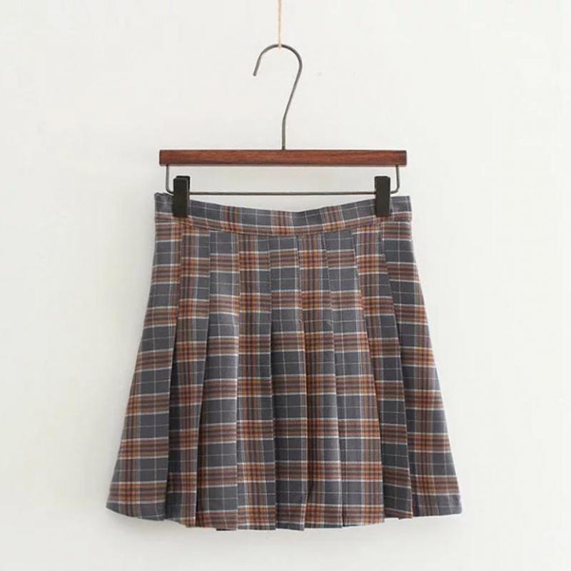 College Style Plaid Skirt Mini Skirt School Uniform Woman Summer Skirt free shipping 2017