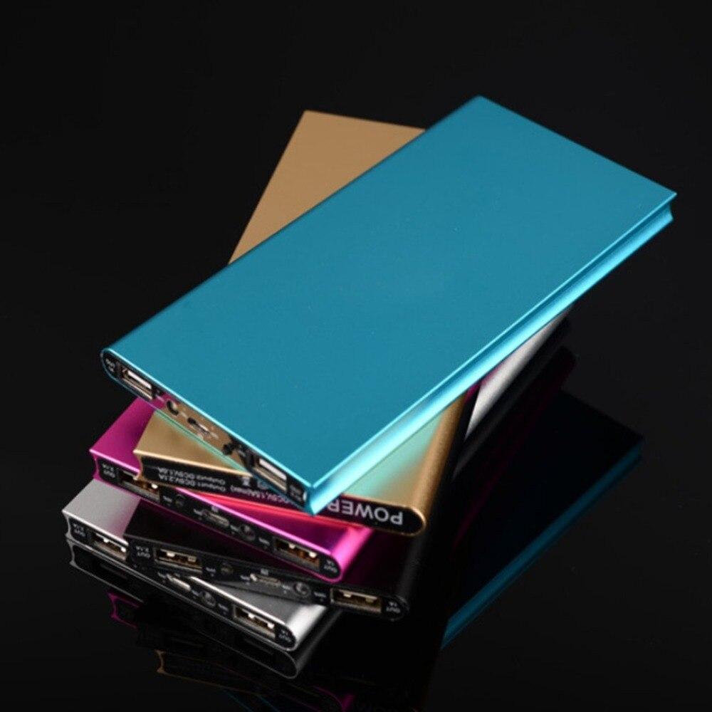 50000 mah Universal Power Bank 9,5mm Ultra-dünne Dual USB Ausgang Mobile Power Tragbare Batterie Ladegeräte Power Quelle zubehör