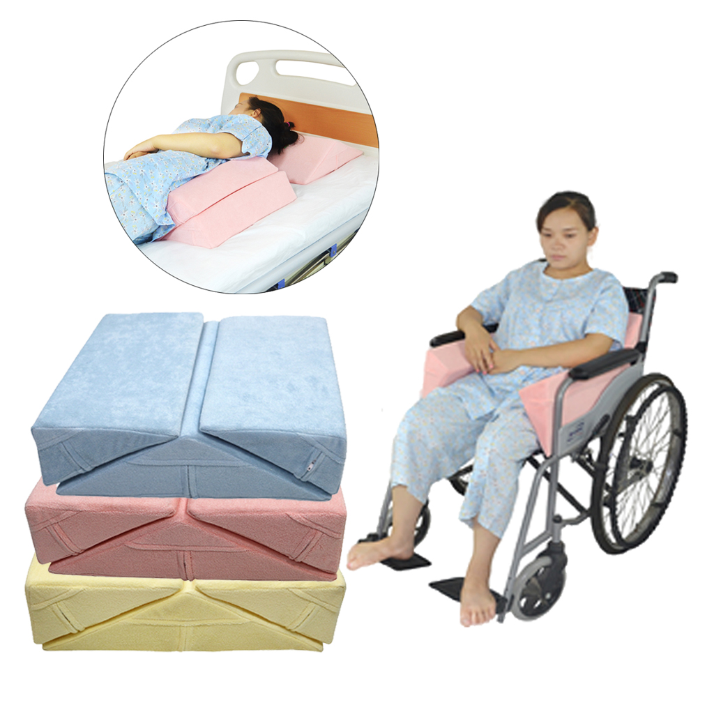 Image 5 - 3X Anti Bedsore Bedridden Patients Elderly Bed Wedge Pillow Elevation Support Cushion Pad Set for Leg Back Knee Waist Wheelchair-in Braces & Supports from Beauty & Health