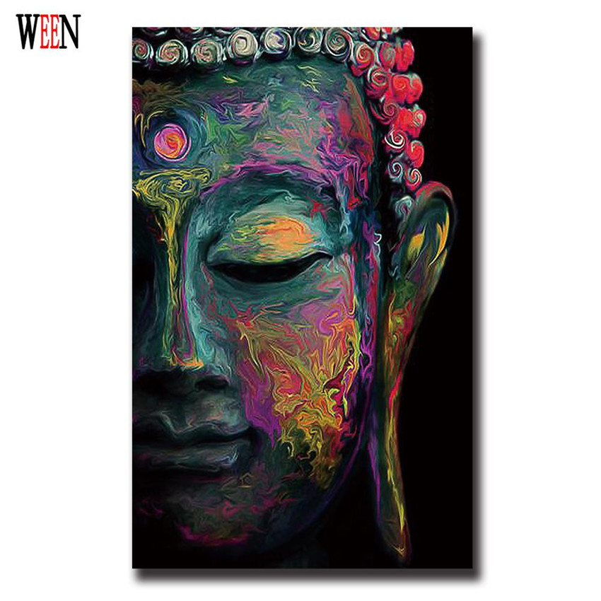 produs buddha wall art abstract painting poster vintage modern